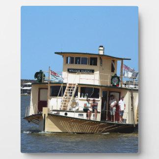 Paddle steamer, Goolwa, Australia Plaque