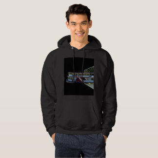 Paddle Steamer Popout Art, Mens Black Hoodie