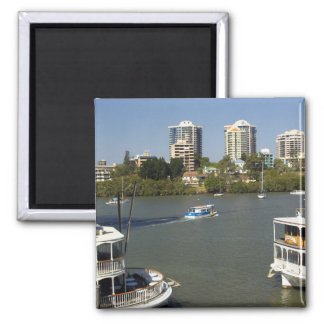 Paddle Steamers, Brisbane River, Brisbane, Square Magnet