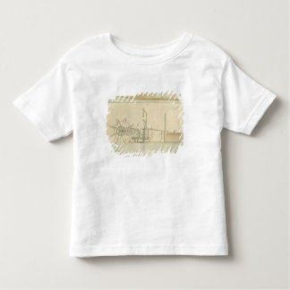 Paddle-wheel, perspective view of machinery drawn toddler T-Shirt
