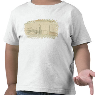 Paddle-wheel, perspective view of machinery drawn shirt