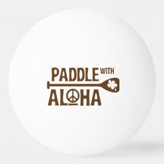 Paddle With Aloha -Ping Pong Ball -Brown Hibiscus