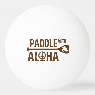 Paddle With Aloha - Ping Pong Ball - Brown Turtle