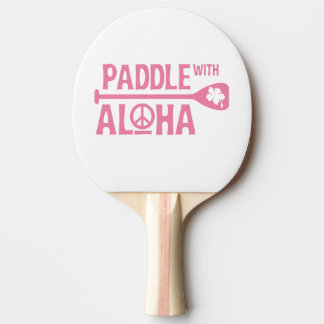Paddle With Aloha -Ping Pong Paddle -Pink Hibiscus
