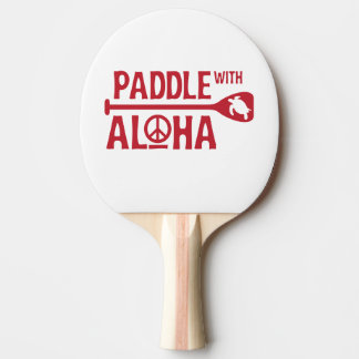 Paddle With Aloha - Ping Pong Paddle - Red Turtle