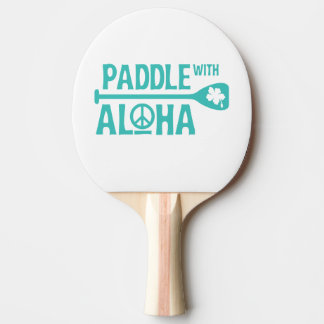 Paddle With Aloha -Ping Pong Paddle - Turquoise