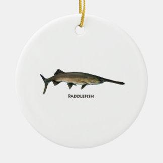 Paddlefish Ceramic Ornament