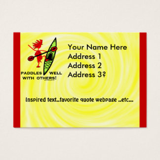 Paddles Well With Other Business Card