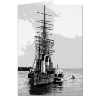 Paddlewheel Tug Greeting Card