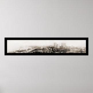 Paddlewheeler Memphis Photo 1910 Poster
