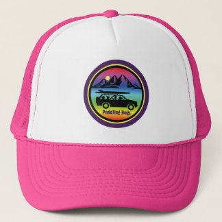 Paddling Dogs Pink Trucker Hat