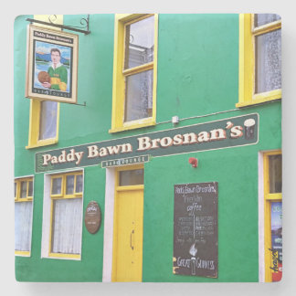 Paddy Bawn, Brosnan, Dingle, Pubs, Ireland Stone Coaster