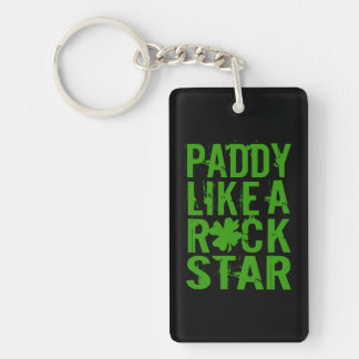 Paddy Like a Rock Star II Double-Sided Rectangular Acrylic Key Ring
