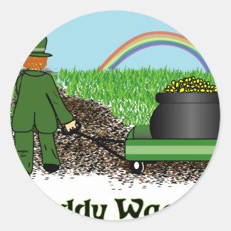 Paddy Wagon St Patricks Day shirt Round Sticker