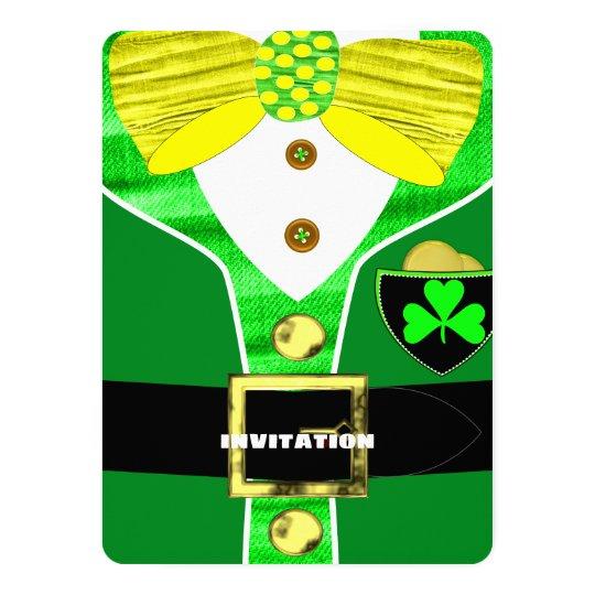 Paddy's Day Irish Leprechaun Personalised Invite