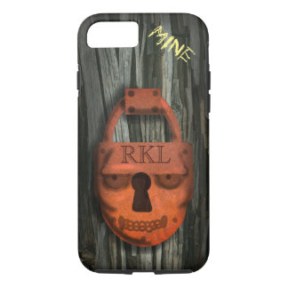 PADLOCK SKULL PROTECTED by Slipperywindow iPhone 8/7 Case