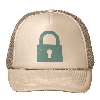 Padlock Textured - Various Colors Available Mesh Hat