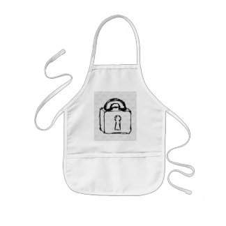 Padlock. Top Secret or Security Icon. Kids Apron