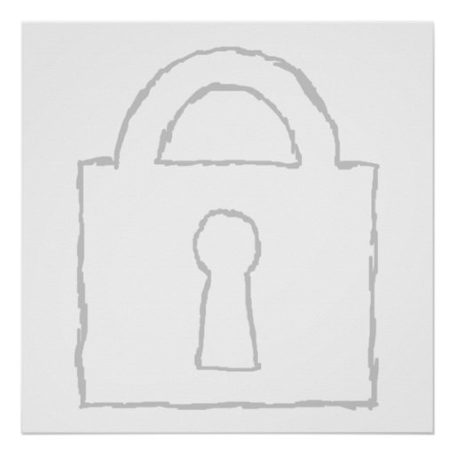 Padlock. Top Secret or Security Icon. Poster