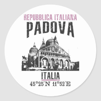 Padova Classic Round Sticker