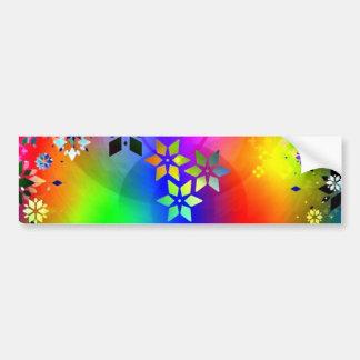 padrão abstrato com estrelas bumper sticker