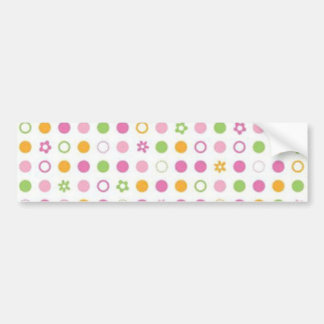 padrão com bolinhas bumper stickers