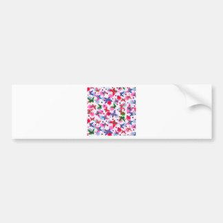 padrão com borboletas bumper sticker