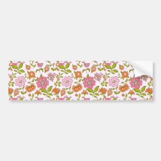 padrão com flores bumper sticker