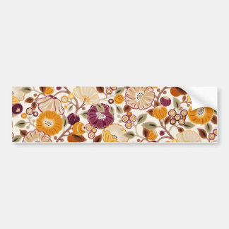 padrão com flores bumper stickers