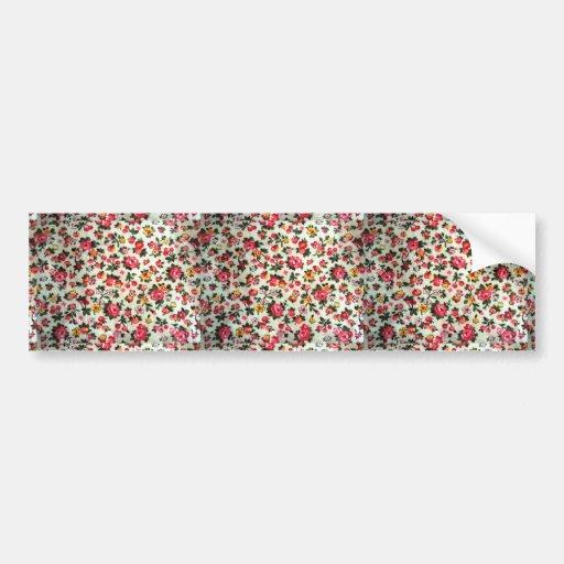 padrão com flores e frutos bumper sticker