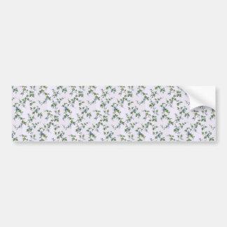 padrão com flores muito suaves bumper sticker
