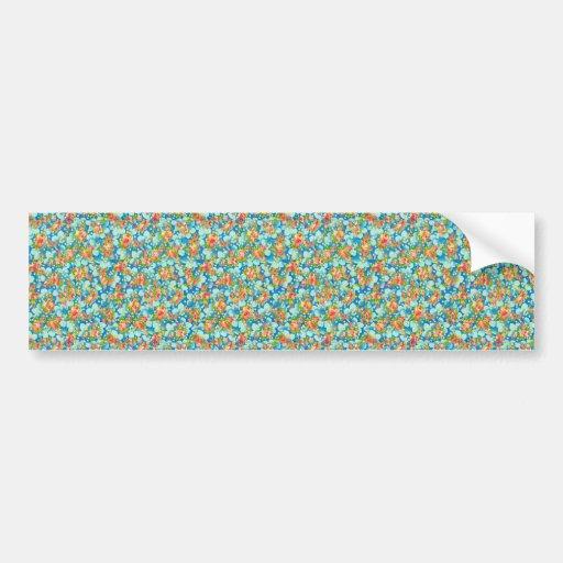 padrão com flores pequenas bumper stickers