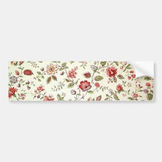 padrão com florinhas vermelhas bumper sticker