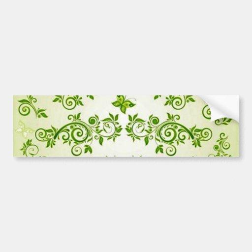 padrão com formas de caracol em verde bumper sticker