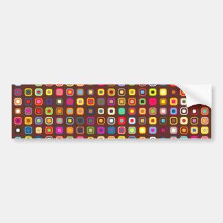 padrão com quadrados pequenos bumper sticker