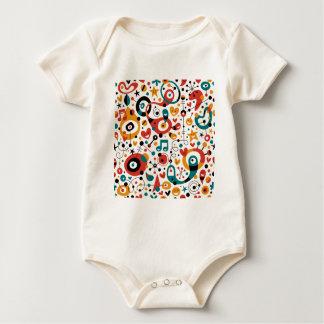 padrão divertido baby bodysuit