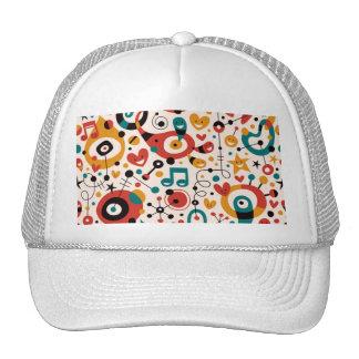 padrão divertido trucker hat