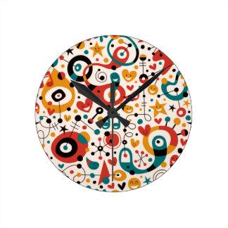 padrão divertido round wall clock