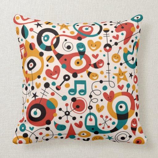 padrão divertido throw pillow