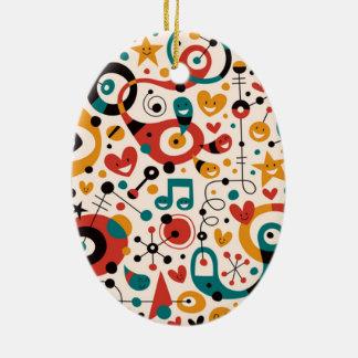 padrão divertido christmas tree ornaments