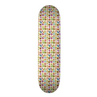 padrão divertido flores e passaros 19.7 cm skateboard deck