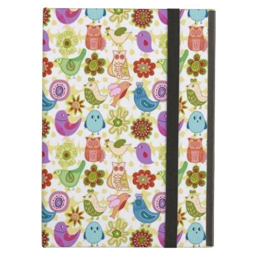 padrão divertido flores e passaros cover for iPad air