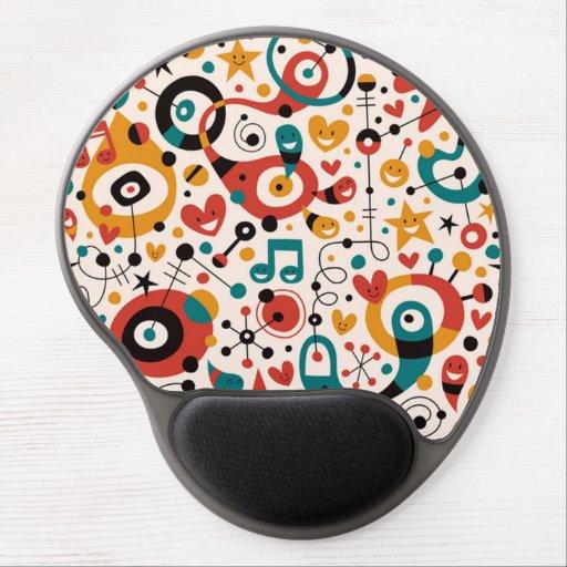 padrão divertido gel mouse pad