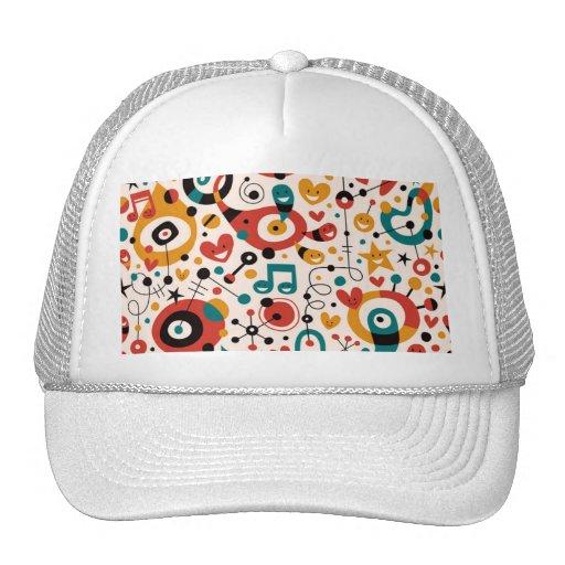padrão divertido mesh hat