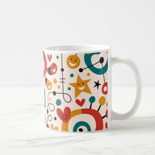 padrão divertido mug