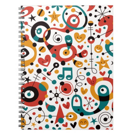 padrão divertido note book