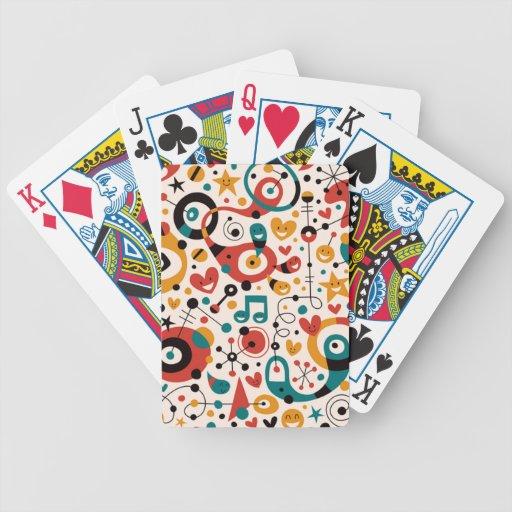 padrão divertido bicycle card deck