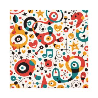 padrão divertido stretched canvas print