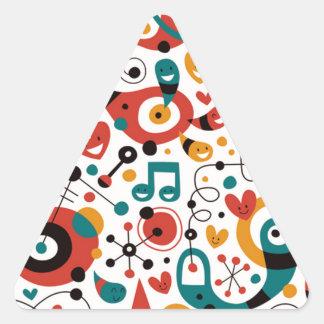 padrão divertido triangle sticker
