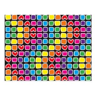 padrão em zig zag colorido postcard